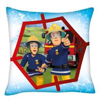 Poduszka Strażak Sam z przyjacielem, 40 x 40 cm