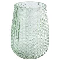 Elegantná sklenená váza, svetlozelená