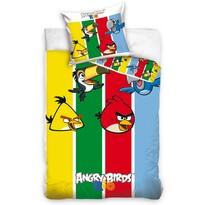 Detské bavlnené obliečky Angry Birds Stripes, 140 x 200 cm, 70 x 80 cm