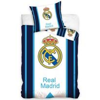 Bavlnené obliečky Real Madrid Blue Stripes, 140 x 200 cm, 70 x 80 cm