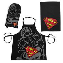 Zestaw kuchenny Superman, czarny