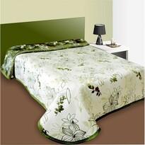 Cuvertură pat Lisbon verde, 140 x 220 cm
