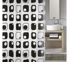 Koupelnový závěs Quaddra, šedý, Meusch, 180 x 200