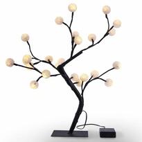 DecoKing Choinka świecąca Bonsaj ciepła biała, 24 LED