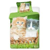 Bavlněné povlečení Kočky 2016, 140 x 200 cm, 70 x 90 cm