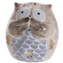 Keramický svícen Silent Owl, 9 cm