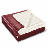 DecoKing Beránková deka Teddy tmavočervená, 150 x 200 cm