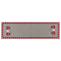 Bieżnik świąteczny Choinka czerwony, 40 x 140 cm