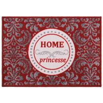 Vnitřní rohožka Home Princess červená, 50 x 70 cm