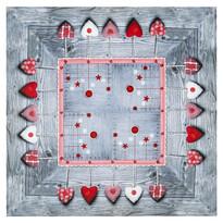 Faţă de masă de Crăciun Podoabe, material textil, 85 x 85 cm