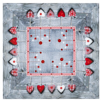 Vánoční ubrus Ozdoby látkové, 85 x 85 cm