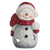 Keramický svícen Sněhulák, 15 cm