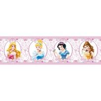 Samolepicí bordura Princezny , 500 x 14 cm