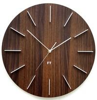 Ceas de peret design Future Time FT2010WE Round dark natural brown, diamteru 40 cm