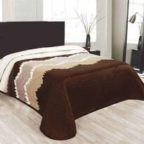 Přehoz na postel Celiné hnědá, 240 x 260 cm