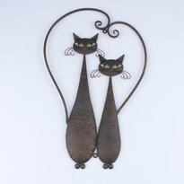 Kovová dekorace na zeď Cats, 52 cm