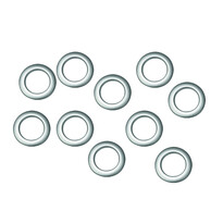 Kroužky na závěsy matná stříbrná, sada 10 ks