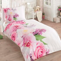 Bavlnené obliečky Flowers 3D Exclusive, 140 x 200 cm, 70 x 90 cm