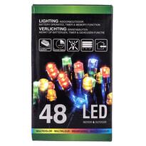 Vianočná svetelná reťaz, farebný, 48 LED