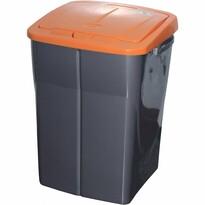 Kôš na triedený odpad 51 x 36 x 36,5 cm, oranžové veko, 45 l
