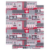 Kuchynská utierka Vianoce sivá, 50 x 70 cm, sada 2 ks