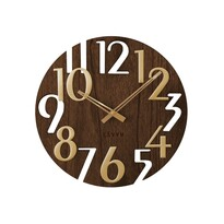 Ceas de perete Lavvu Style Brown Wood, diam. 40 cm