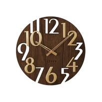 Zegar ścienny Lavvu Style Brown Wood, śr. 40 cm