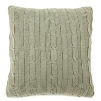 Obliečka na vankúšik pletená Duo sivá, 45 x 45 cm