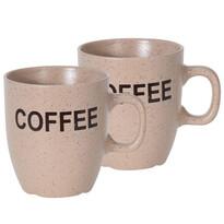 Sada kameninových hrnčekov Cofee 150 ml, 2 ks, béžová