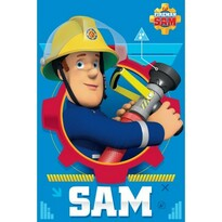 Detská deka Požiarnik Sam, 100 x 150 cm