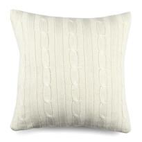 Povlak na polštářek pletený Duo krémová, 45 x 45 cm