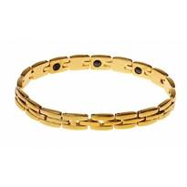 Stalowa bransoletka z magnesami, złoty