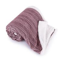 Pătură imitaţie de blană Agnello, roz vechi, 150 x 200 cm