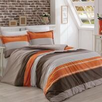 Delux Stripe pamut ágyneműhuzat lazac színű