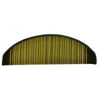 Carnaby lépcsőszőnyeg, zöld, 24 x 65 cm