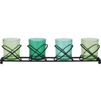 Dekoratívny svietnik na čajové sviečky, zelená