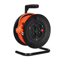 Solight PB23O Bubnový predlžovací kábel so  zásuvkami oranžová, 15 m