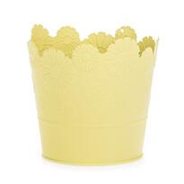 Zinkový kvetináč Daisy žltá, pr. 13,5 cm