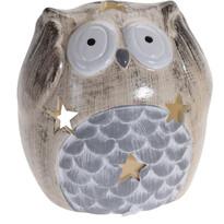 Keramický svietnik Deaf Owl, 9 cm