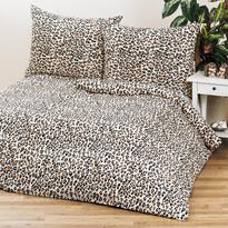4Home Obliečky Leopard 1 + 1, 140 x 200 cm, 70 x 90 cm