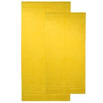 4home sada Bamboo Premium osuška a uterák žltá, 70 x 140 cm, 50 x 100 cm