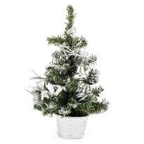 Vianočný stromček dekorovaný strieborná, 30 cm
