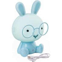 Detská nočná LED lampička zajačik, modrá