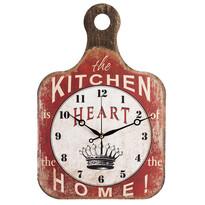 Zegar ścienny Drewniana deska do krojenia Crown