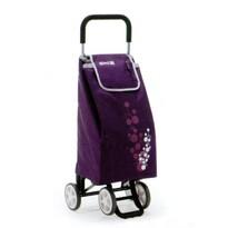 Gimi Twin nákupná taška na kolieskach fialová