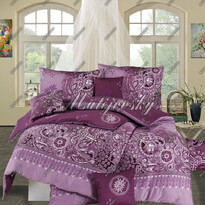 Matějovský bavlněné povlečení Afrodita Violet, 240 x 210 cm, 2 ks 70 x 90 cm