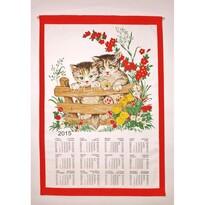 Kalendarz tekstylny 2015 Koty, 45 x 65 cm