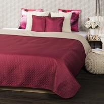 4Home Prehoz na posteľ Doubleface vínová/béžová, 220 x 240 cm, 2x 40 x 40 cm