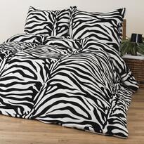 4Home pościel mikroflanela Zebra, 160 x 200 cm, 2 szt. 70 x 80 cm