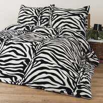 4Home povlečení mikroflanel Zebra, 160 x 200 cm, 2 ks 70 x 80 cm